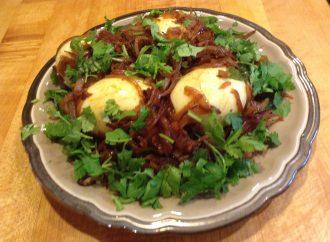 Egg Roast (Hard Boiled Eggs in Caramelized Onions)