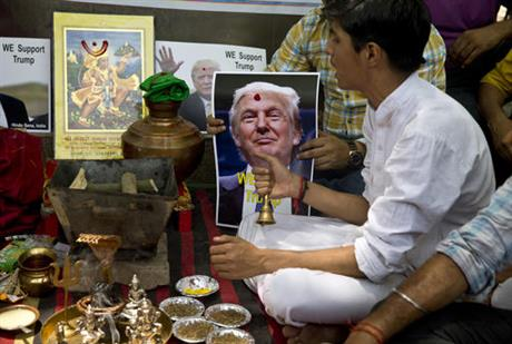 Indian Hindus ask gods to help Trump